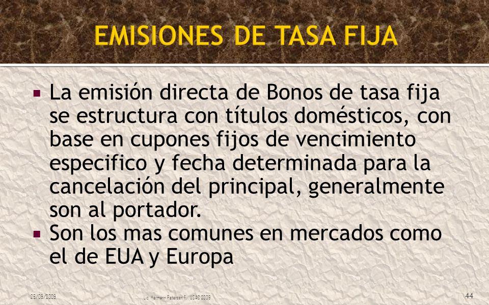 EMISIONES DE TASA FIJA