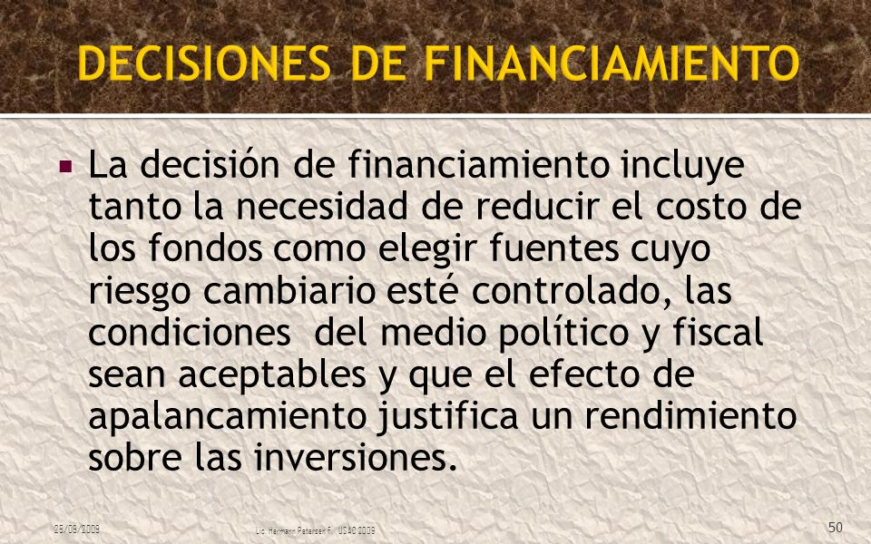 DECISIONES DE FINANCIAMIENTO