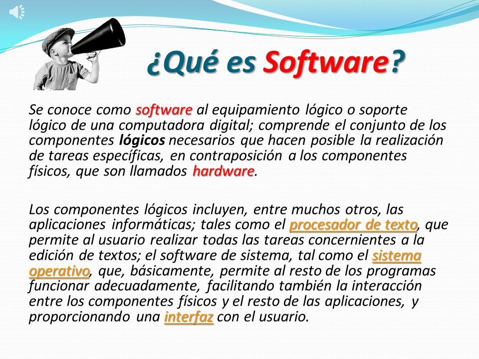 ¿Qué es Software