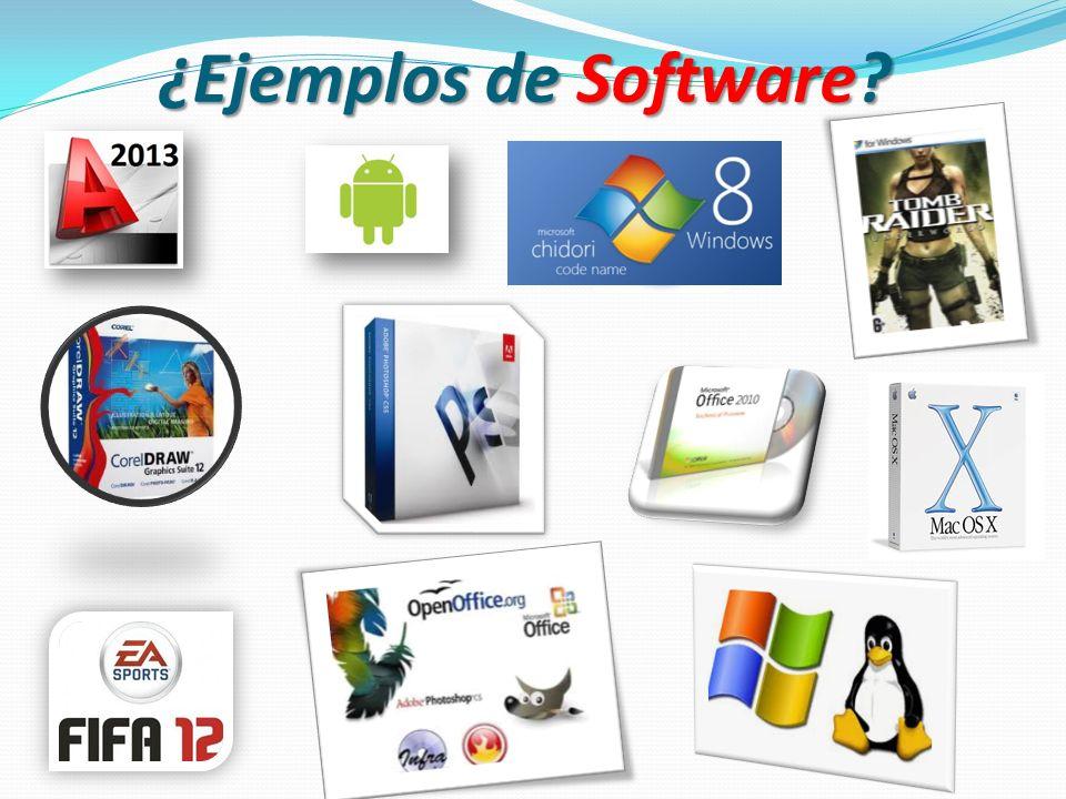 ¿Ejemplos de Software