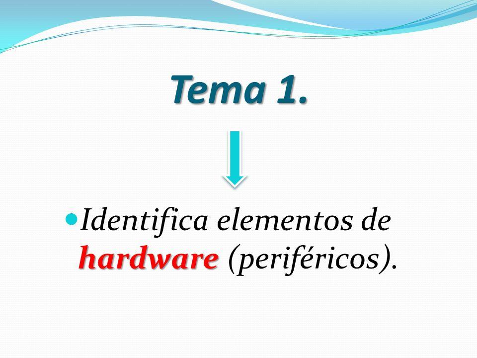 Tema 1. Identifica elementos de hardware (periféricos).