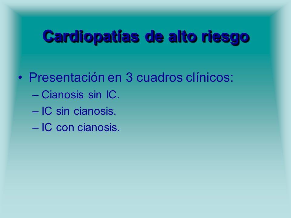 Cardiopatías de alto riesgo