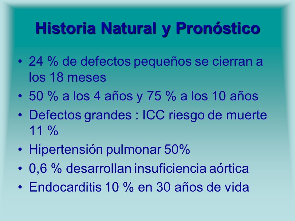 Historia Natural y Pronóstico