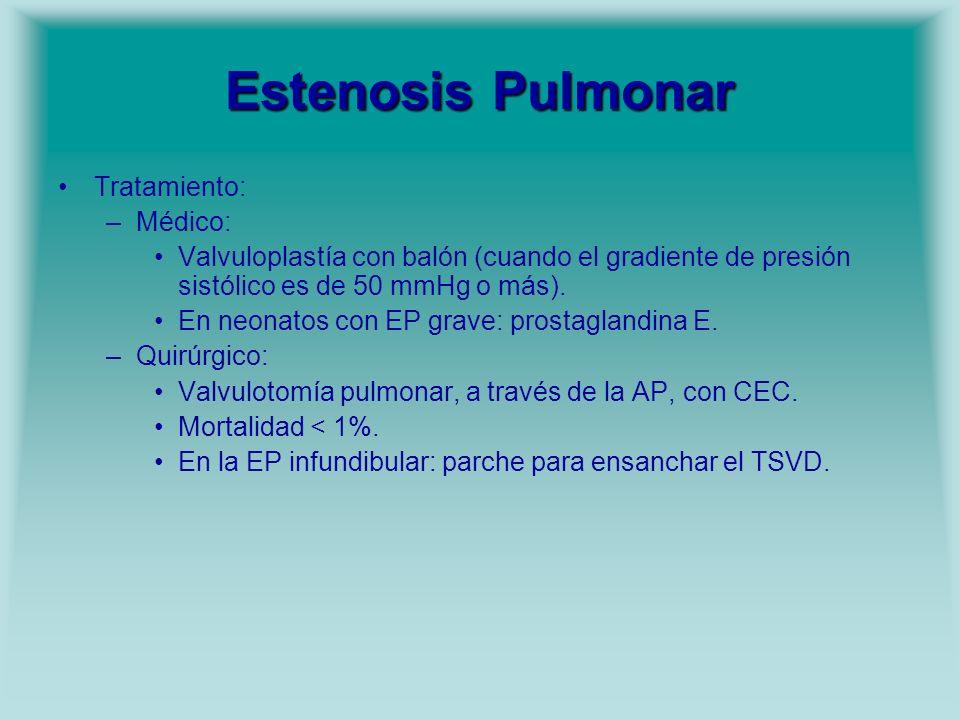 Estenosis Pulmonar Tratamiento: Médico: