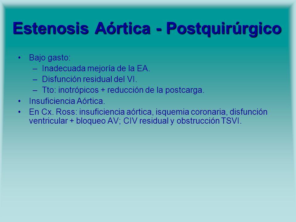 Estenosis Aórtica - Postquirúrgico