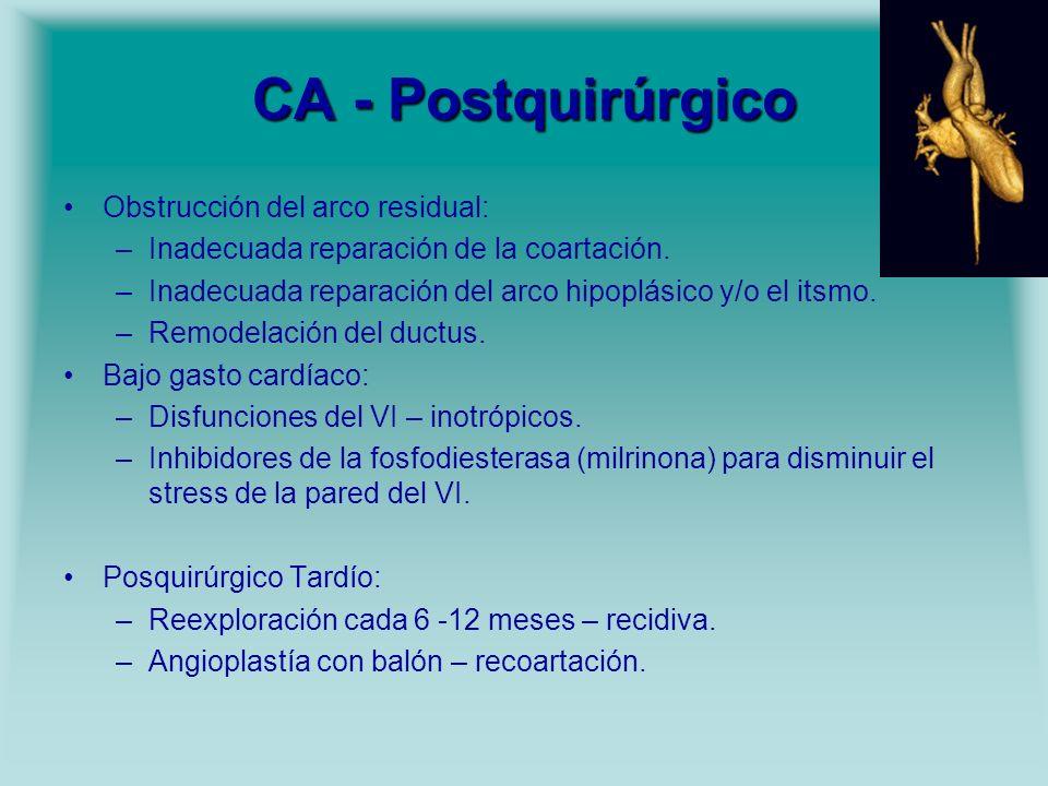 CA - Postquirúrgico Obstrucción del arco residual: