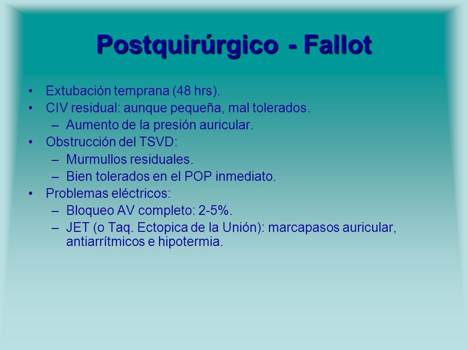 Postquirúrgico - Fallot