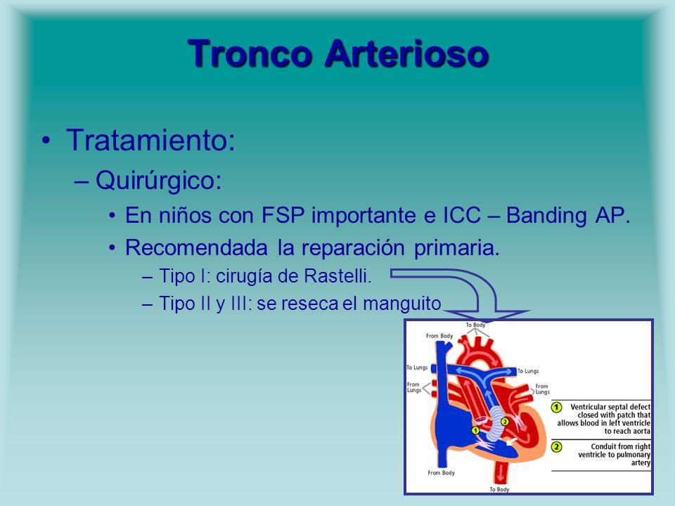 Tronco Arterioso Tratamiento: Quirúrgico: