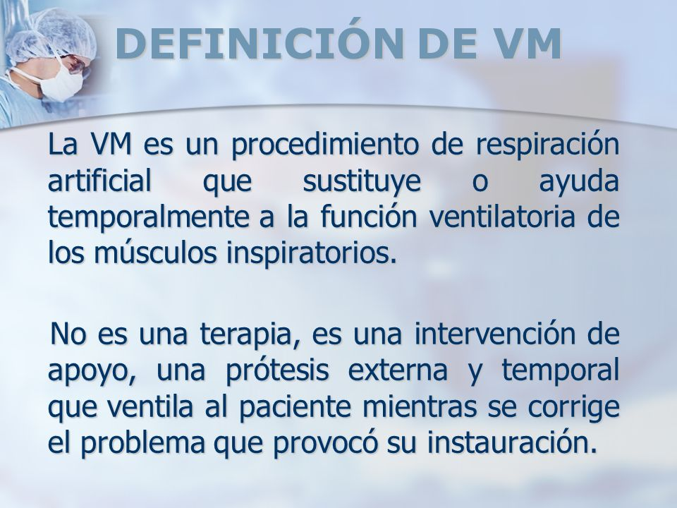 DEFINICIÓN DE VM