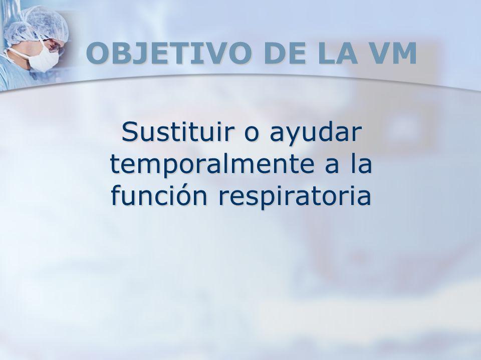 Sustituir o ayudar temporalmente a la función respiratoria