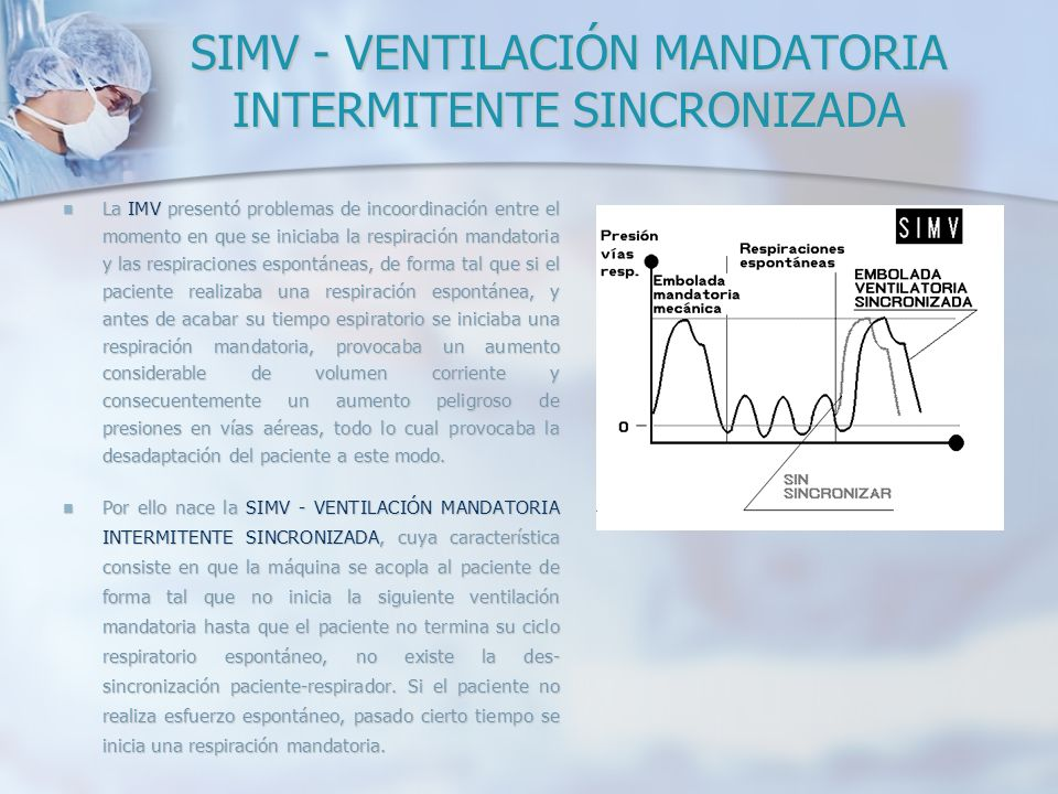 SIMV - VENTILACIÓN MANDATORIA INTERMITENTE SINCRONIZADA