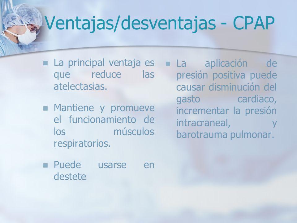 Ventajas/desventajas - CPAP