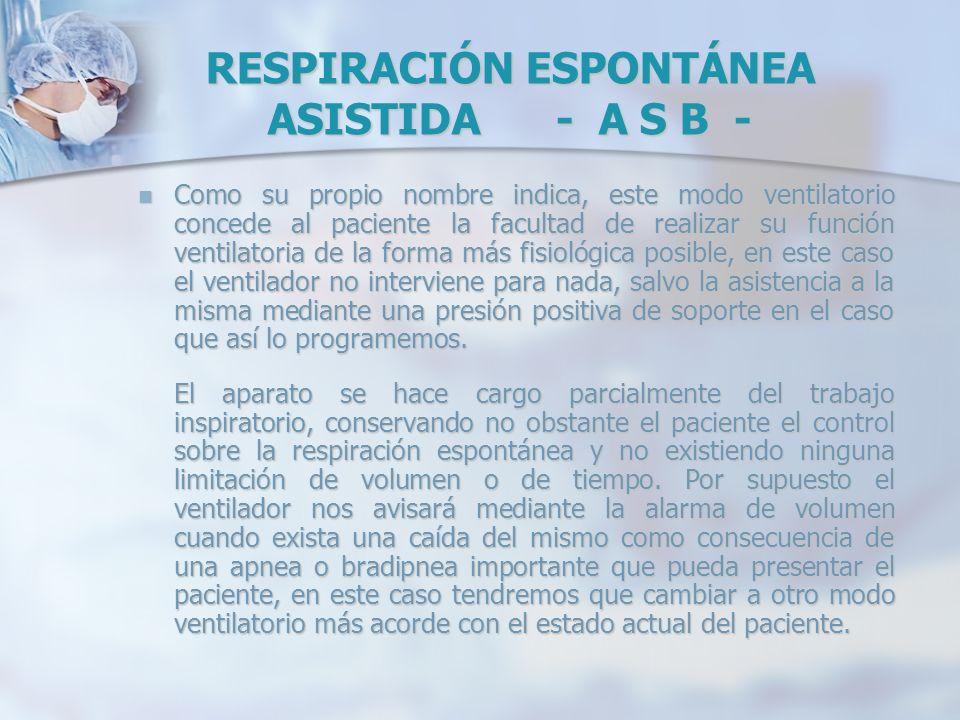 RESPIRACIÓN ESPONTÁNEA ASISTIDA - A S B -