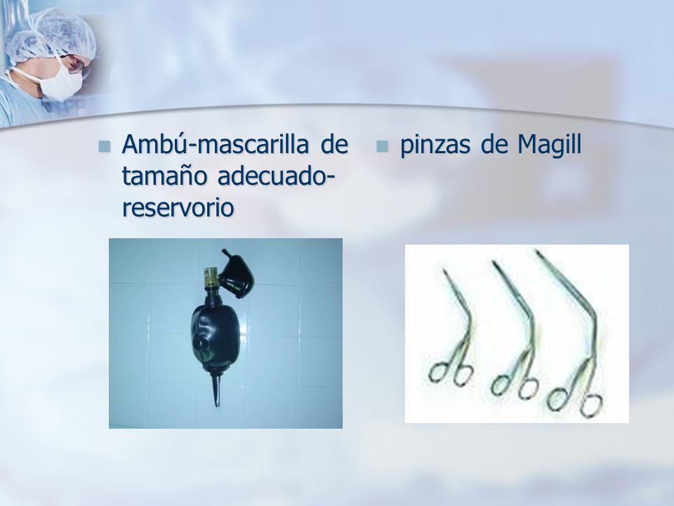 Ambú-mascarilla de tamaño adecuado-reservorio