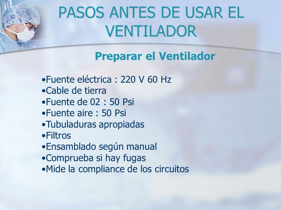 PASOS ANTES DE USAR EL VENTILADOR
