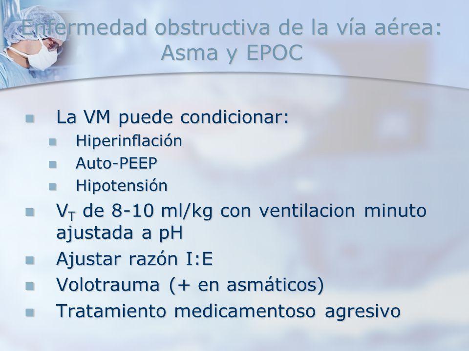 Enfermedad obstructiva de la vía aérea: Asma y EPOC