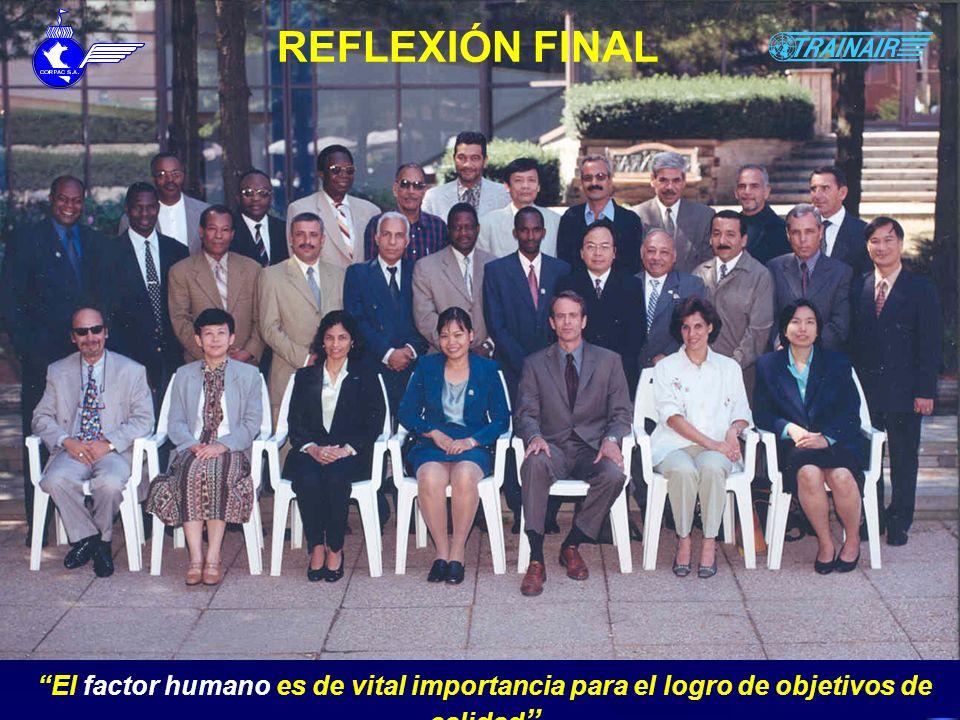 REFLEXIÓN FINAL El Programa TRAINAIR es un buen ejemplo de un enfoque sistémico que requiere cumplir con procesos previamente establecidos.