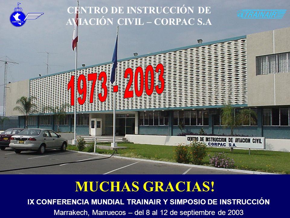 1973 - 2003 MUCHAS GRACIAS! CENTRO DE INSTRUCCIÓN DE