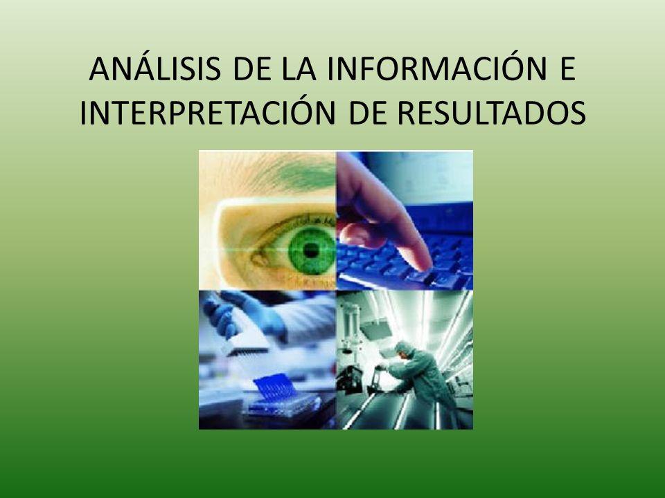 ANÁLISIS DE LA INFORMACIÓN E INTERPRETACIÓN DE RESULTADOS