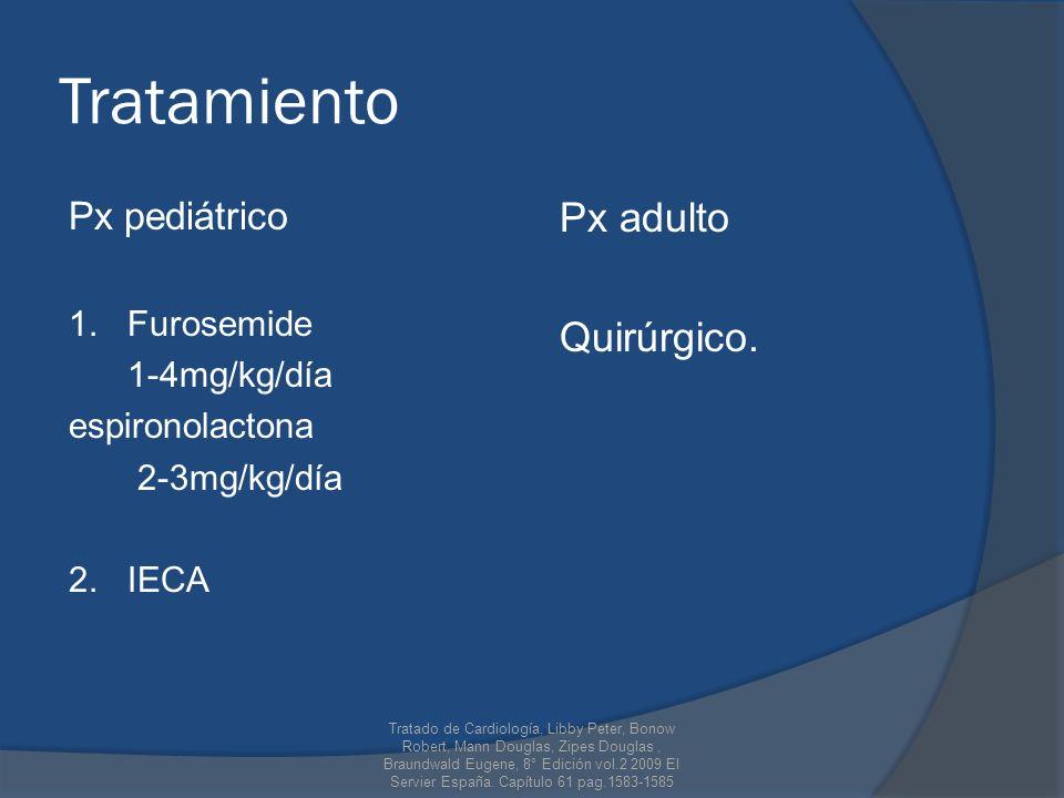 Tratamiento Px adulto Quirúrgico. Px pediátrico 1. Furosemide