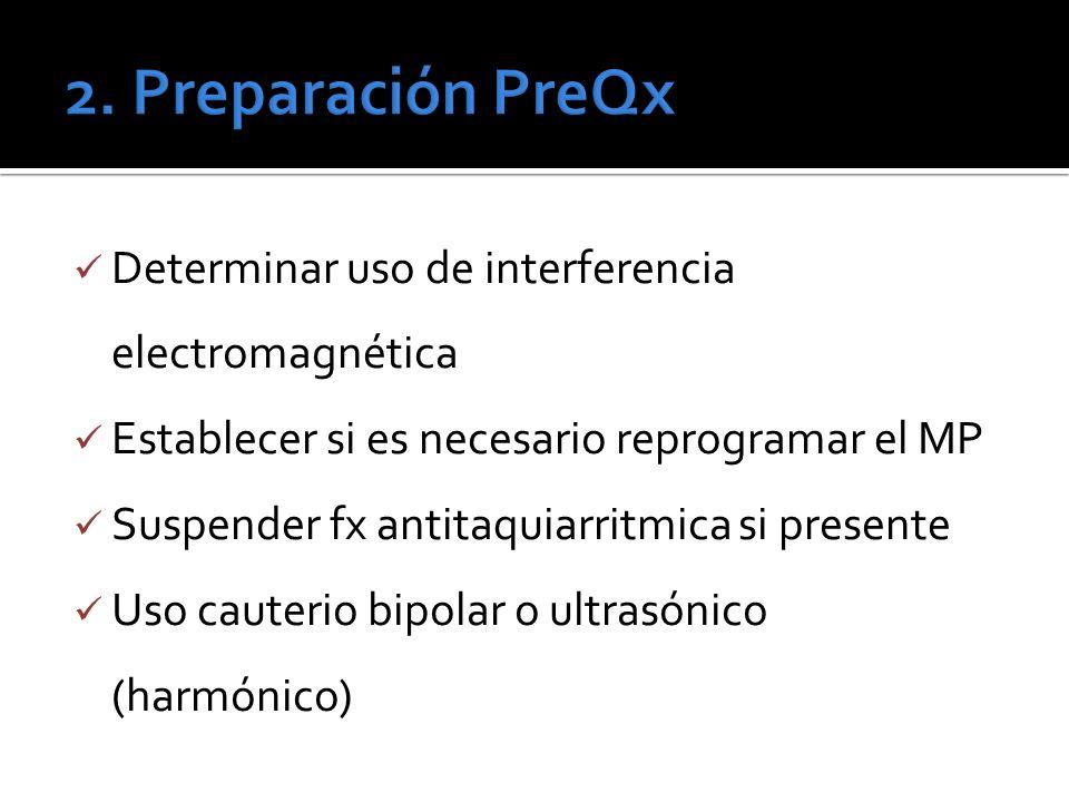2. Preparación PreQx Determinar uso de interferencia electromagnética