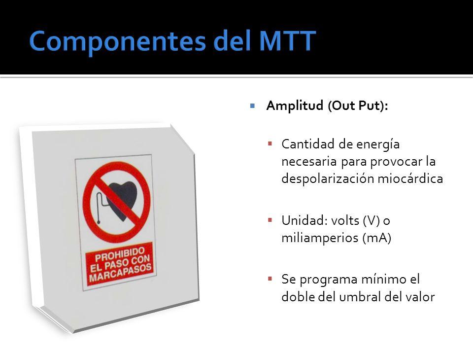 Componentes del MTT Amplitud (Out Put):