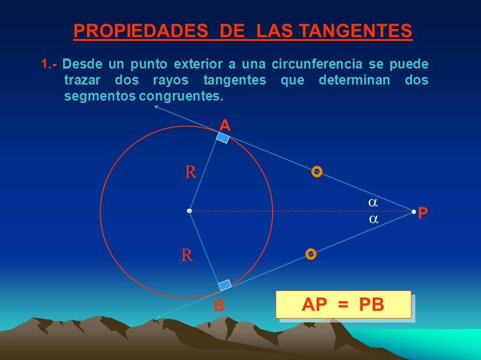 PROPIEDADES DE LAS TANGENTES