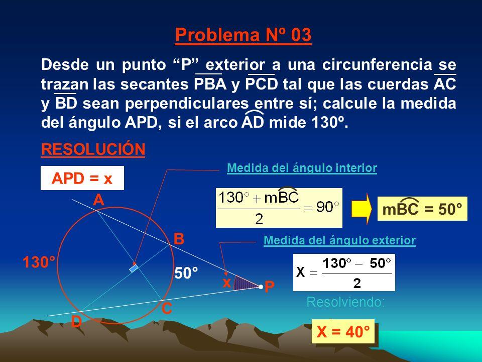 Medida del ángulo interior Medida del ángulo exterior