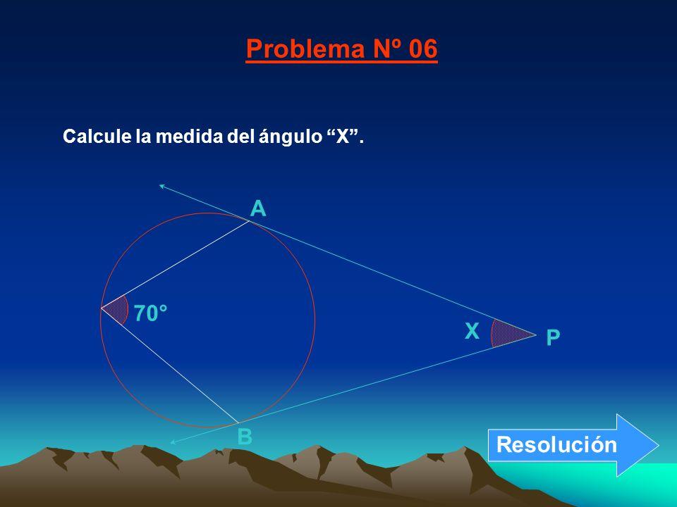 Problema Nº 06 A 70° X P B Resolución