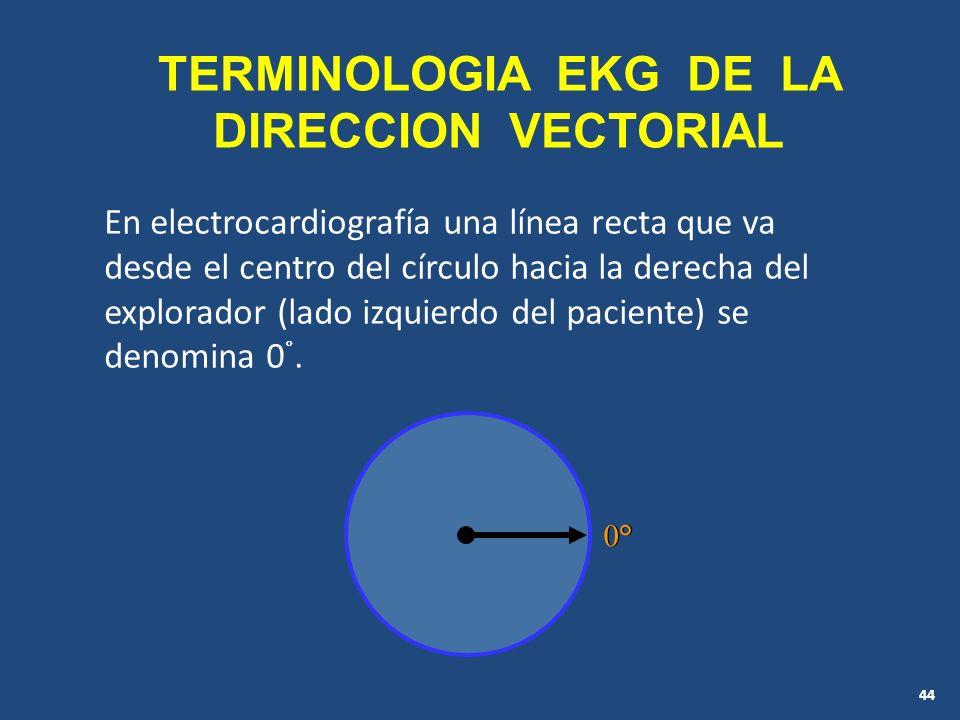 TERMINOLOGIA EKG DE LA DIRECCION VECTORIAL