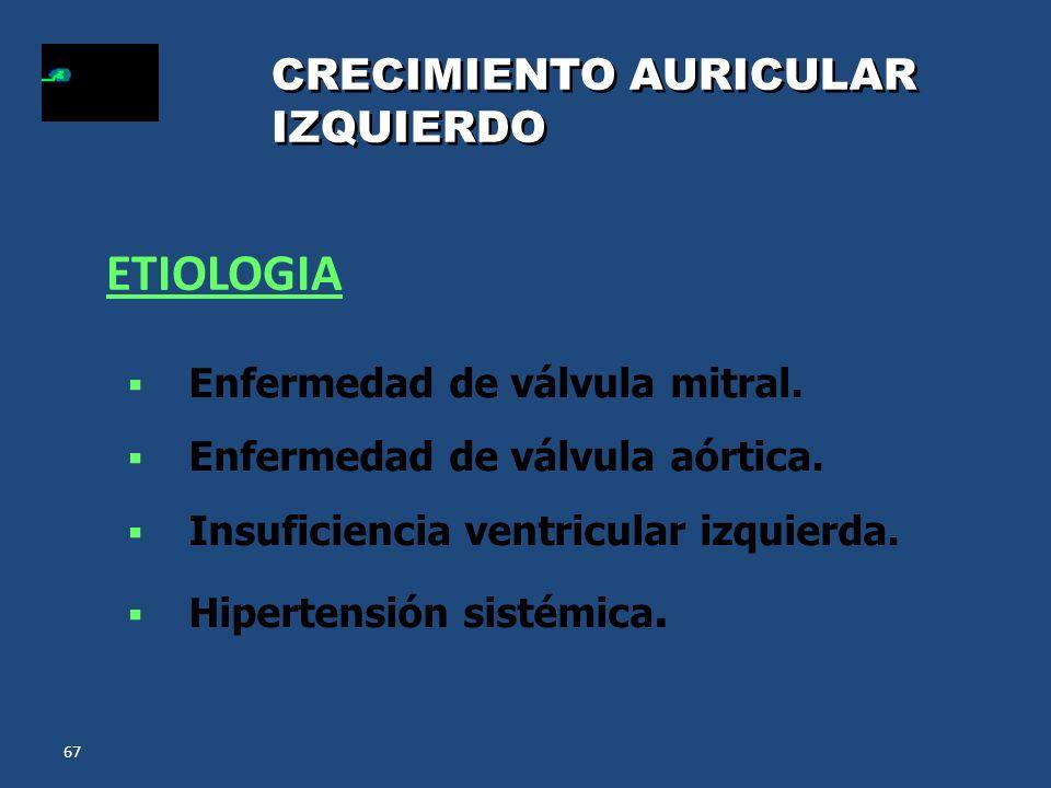 ETIOLOGIA CRECIMIENTO AURICULAR IZQUIERDO