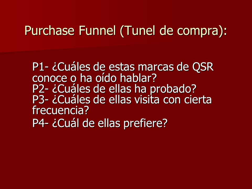 Purchase Funnel (Tunel de compra):