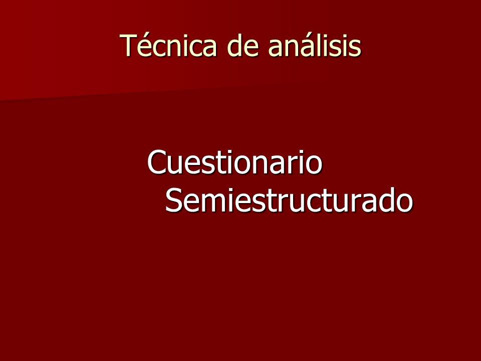 Cuestionario Semiestructurado