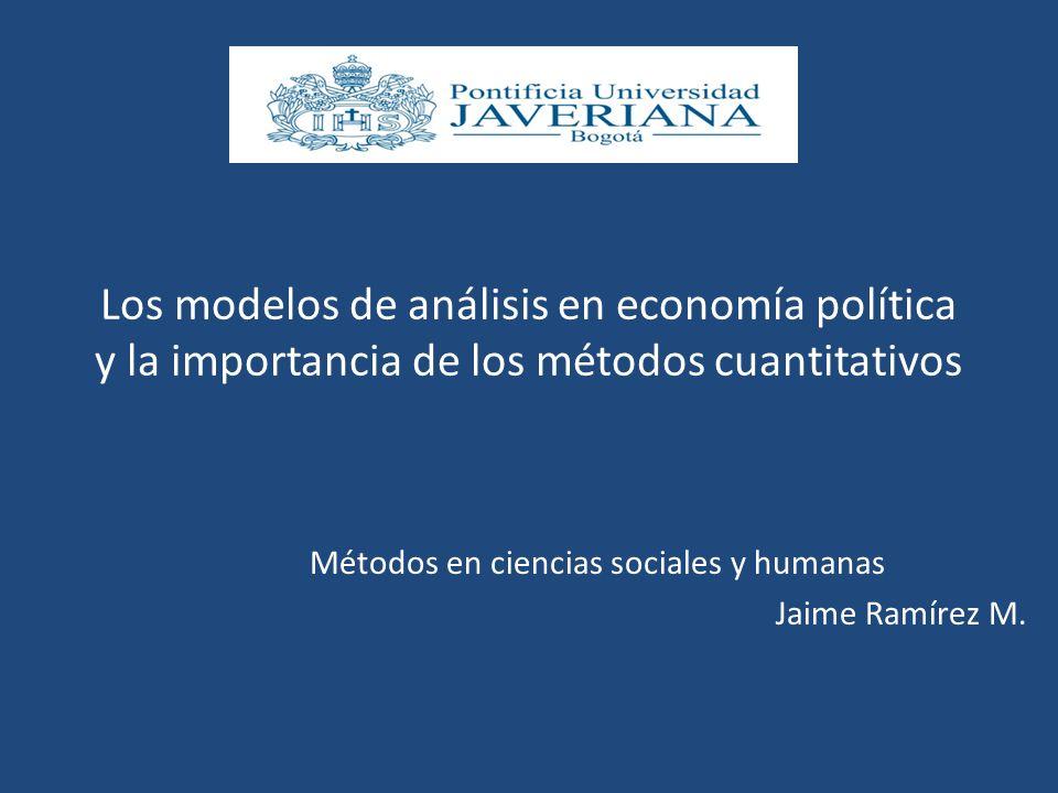 Métodos en ciencias sociales y humanas Jaime Ramírez M.