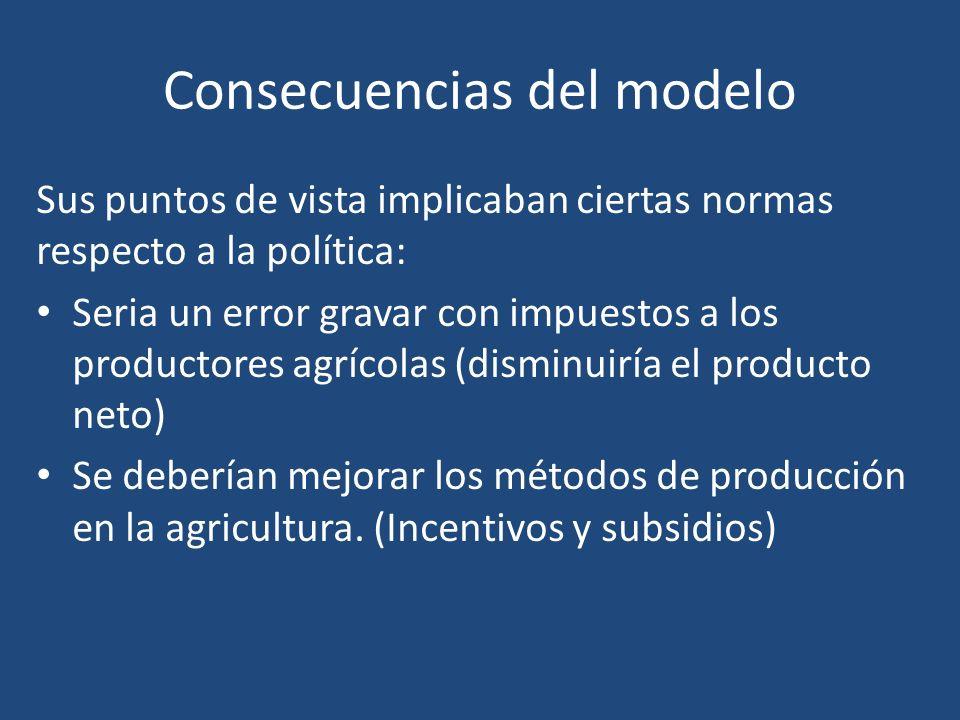 Consecuencias del modelo