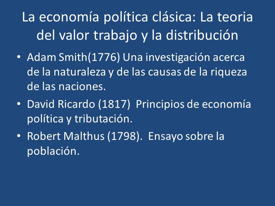 La economía política clásica: La teoria del valor trabajo y la distribución
