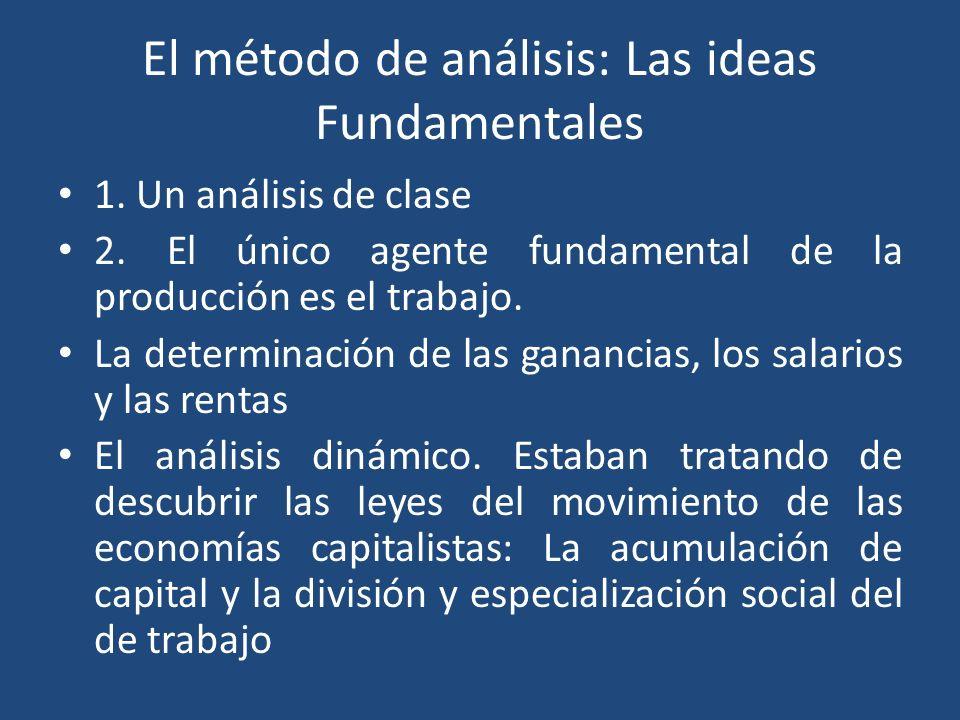 El método de análisis: Las ideas Fundamentales