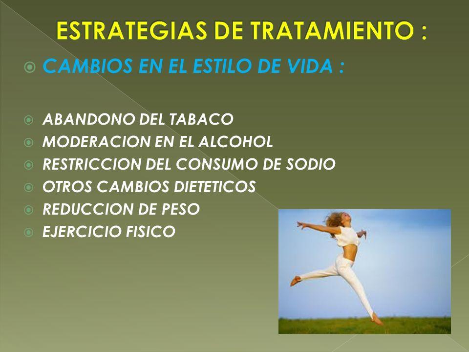 ESTRATEGIAS DE TRATAMIENTO :
