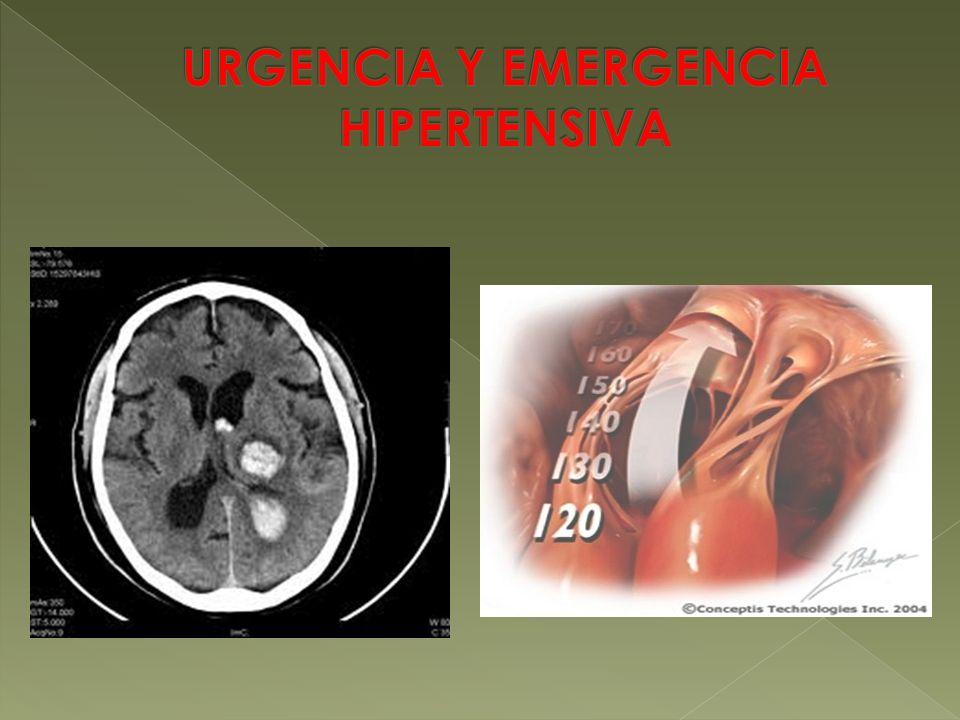 URGENCIA Y EMERGENCIA HIPERTENSIVA