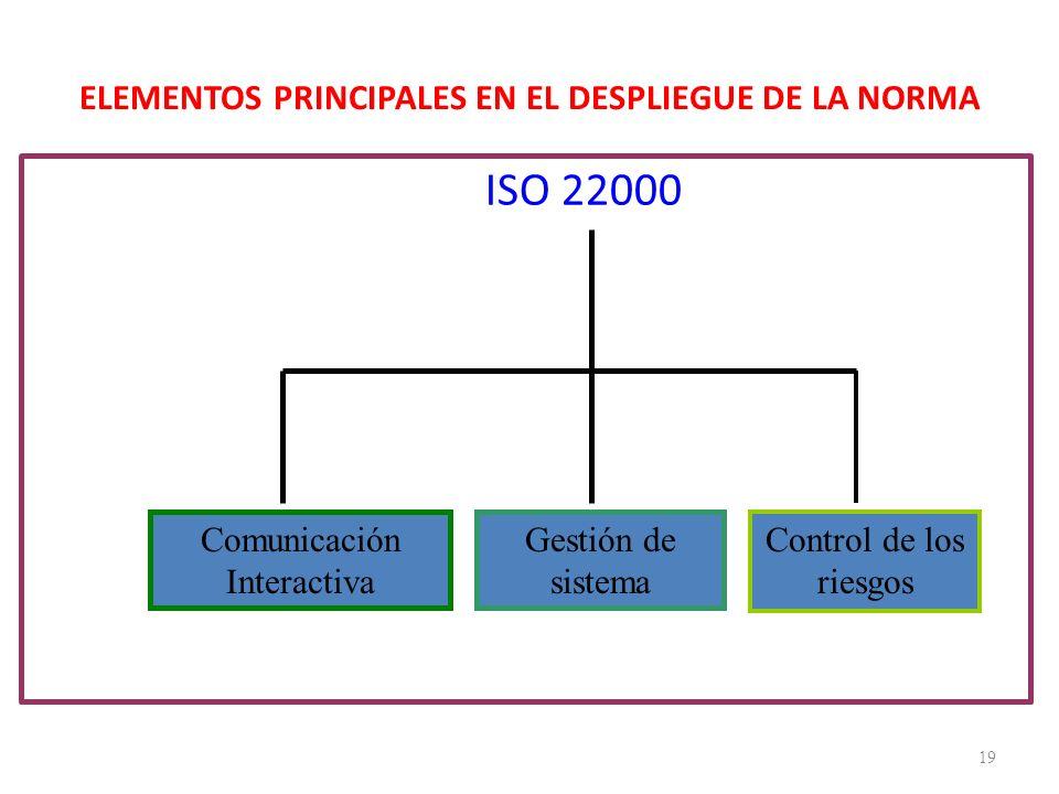 ELEMENTOS PRINCIPALES EN EL DESPLIEGUE DE LA NORMA