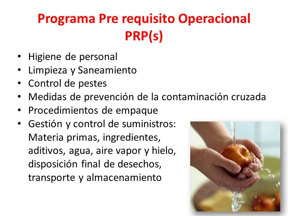 Programa Pre requisito Operacional PRP(s)