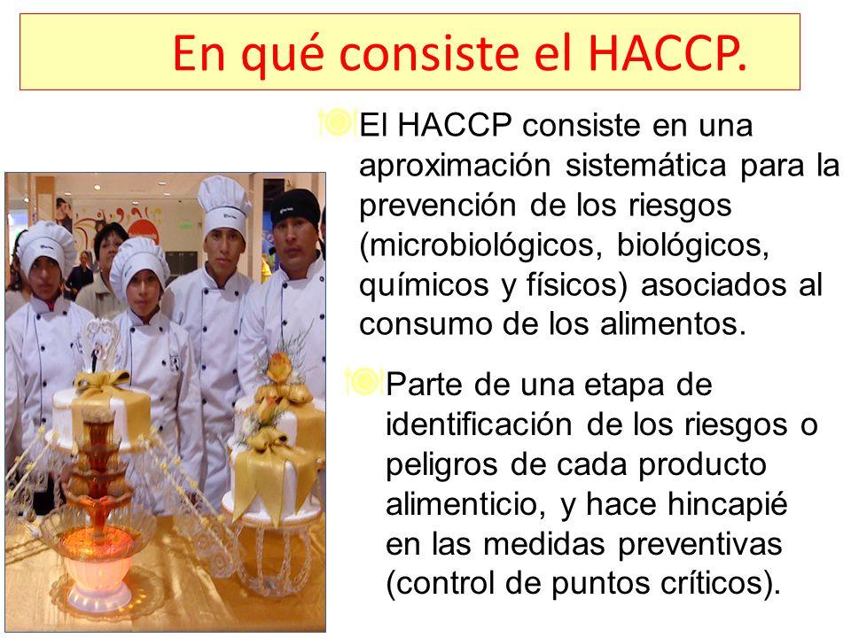 En qué consiste el HACCP.