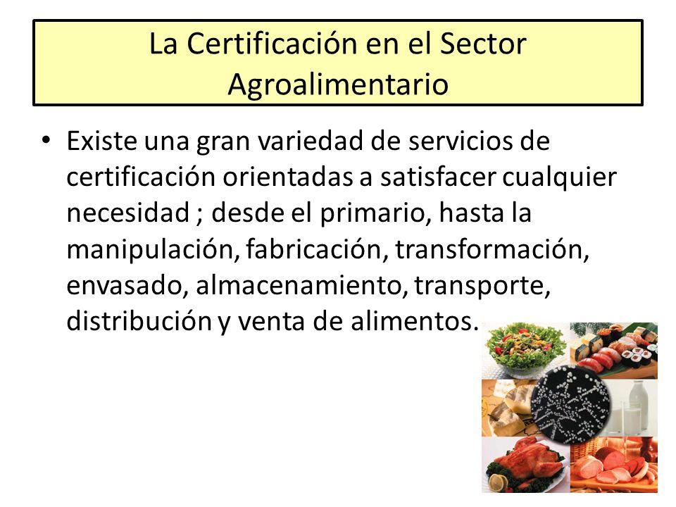 La Certificación en el Sector Agroalimentario