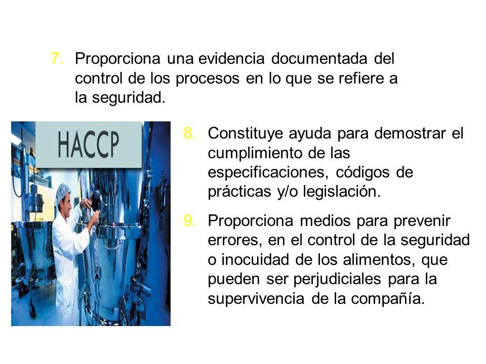 Proporciona una evidencia documentada del control de los procesos en lo que se refiere a la seguridad.