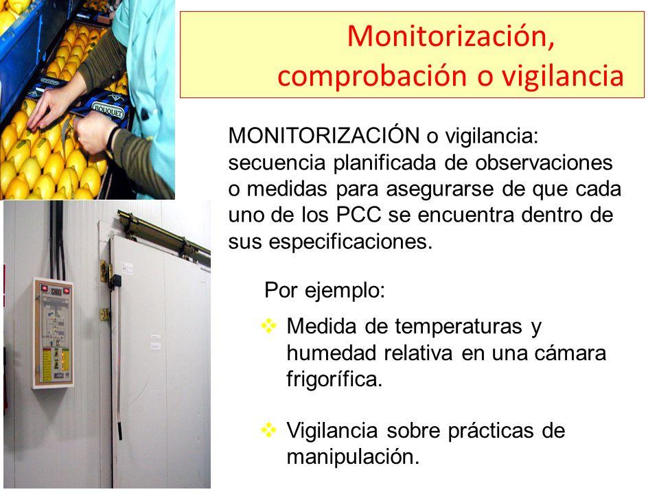 Monitorización, comprobación o vigilancia