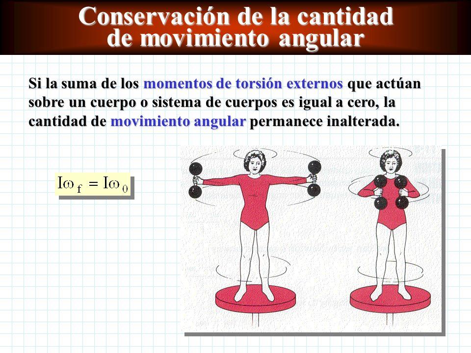 Conservación de la cantidad de movimiento angular
