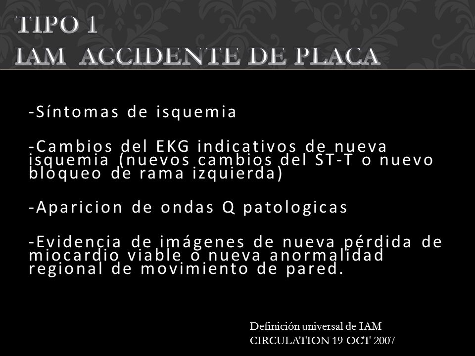 TIPO 1 IAM ACCIDENTE DE PLACA