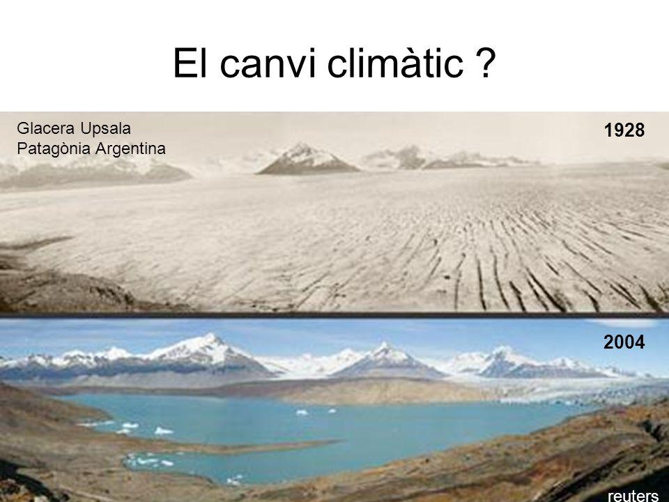 El canvi climàtic 1928 2004 Glacera Upsala Patagònia Argentina