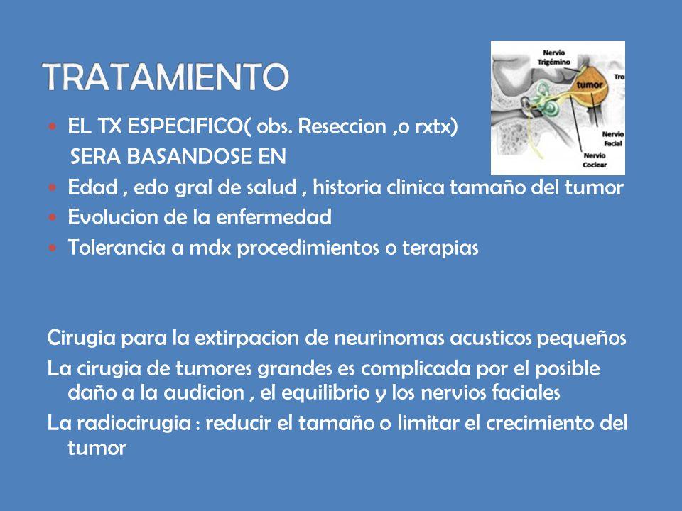 TRATAMIENTO EL TX ESPECIFICO( obs. Reseccion ,o rxtx)