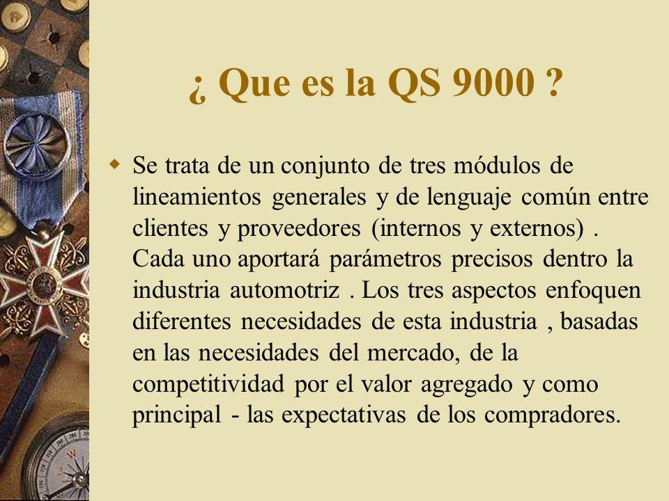 ¿ Que es la QS 9000